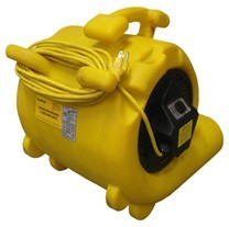 yellow air mover rear view