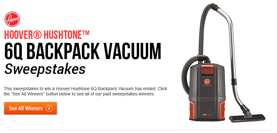 Hoover Hushtone 6Q Backpack Vacuum Sweepstakes