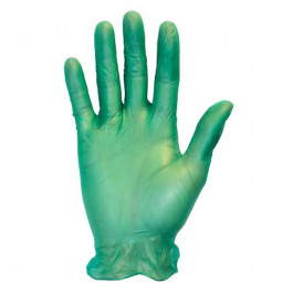 Green Vinyl Gloves - 6.5 mil
