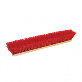 Red Polypropylene Heavy Duty Push Broom