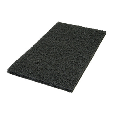 14 x 28 inch Black Wet Floor Stripping Pads