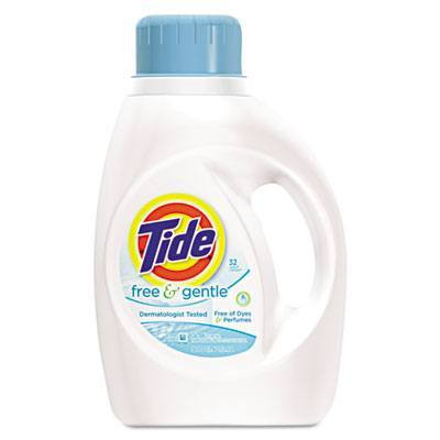 Case of Tide Free & Gentle Laundry Detergent, 50oz Bottles