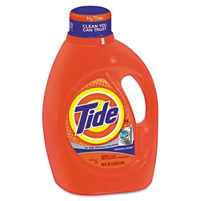 Case of Tide HE Laundry Detergent, Original Scent, 100oz Bottles