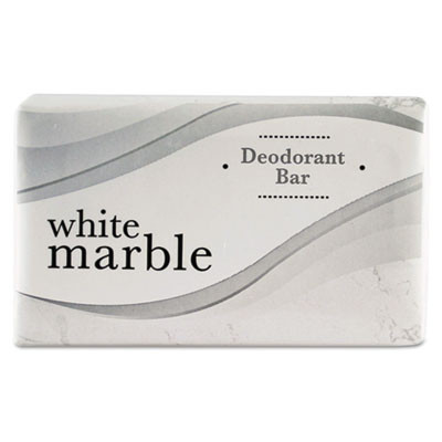 1000 Count (0.75oz) White Marble Deodorant Bar Soap