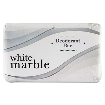 200 Count (2.5oz) White Marble Deodorant Bar Soap