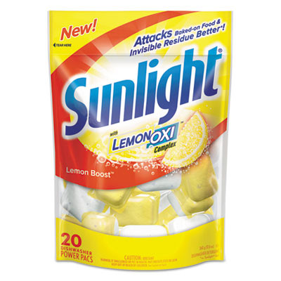 Sunlight Auto Dish Power Pacs Case Lemon