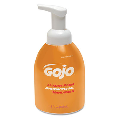 GOJO® Luxury Foam Antibacterial Handwash - Case of 18 Oz Pump Bottles