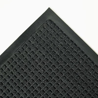 Charcoal 34 x 58 Super-Soaker Wiper Mat w/Gripper Bottom