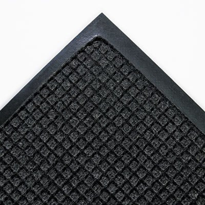 Charcoal 45 x 68 Super-Soaker Wiper Mat w/Gripper Bottom