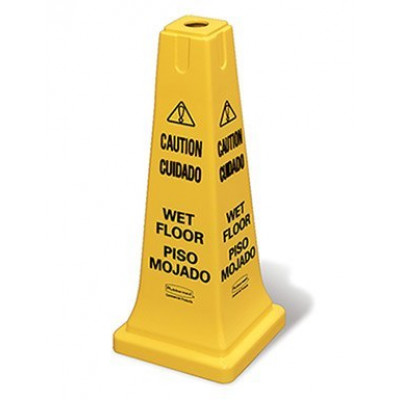 Wet Floor Safety Cone Sign