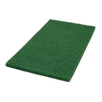 14 x 28 inch Green Heavy Duty Floor Scrubbing Pads