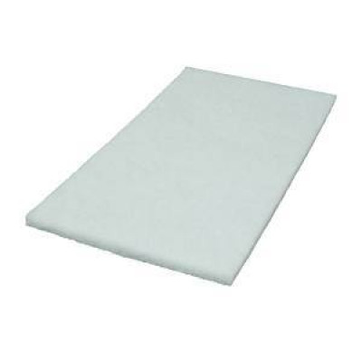 14 x 20 inch White Rectangular Pad