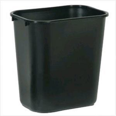 Black Waste Basket - Medium (28-1/8 qt.)