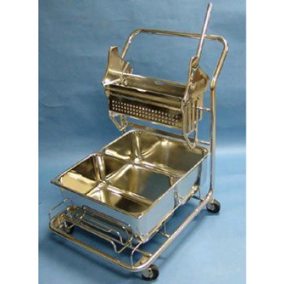 Cleanroom Trolley & Mop Wringer/Bucket