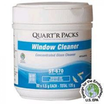 Concentrated Glass Window Cleaning Packs