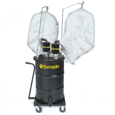 Tornado® Dual External Filter Metal Grinding Recovery Vacuum - Air Powered