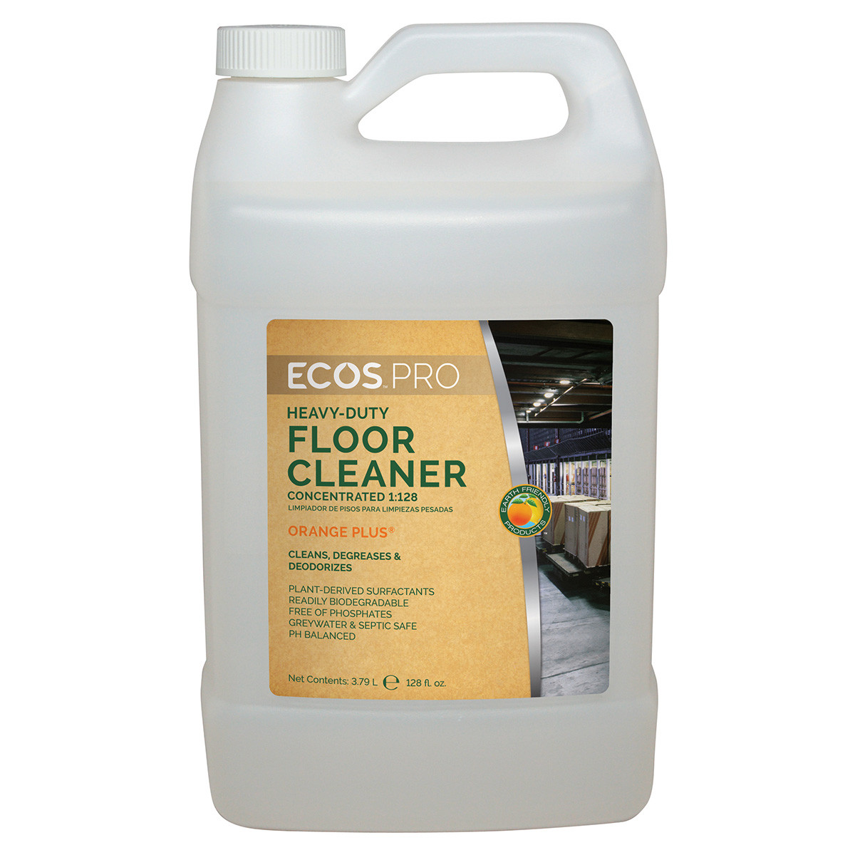 earth friendly products ecos pro orange plus concentrated floor cleaner degreaser. Black Bedroom Furniture Sets. Home Design Ideas