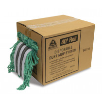 Disposable Dust Mop System, 40 Velcro- Green