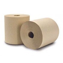 Brown Natural Kraft Paper Towel Rolls