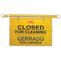 Rubbermaid Hanging 'Closed for Cleaning' Safety Sign
