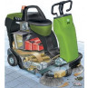 Battery Powered Rider Warehouse Sweeper Cut Away View