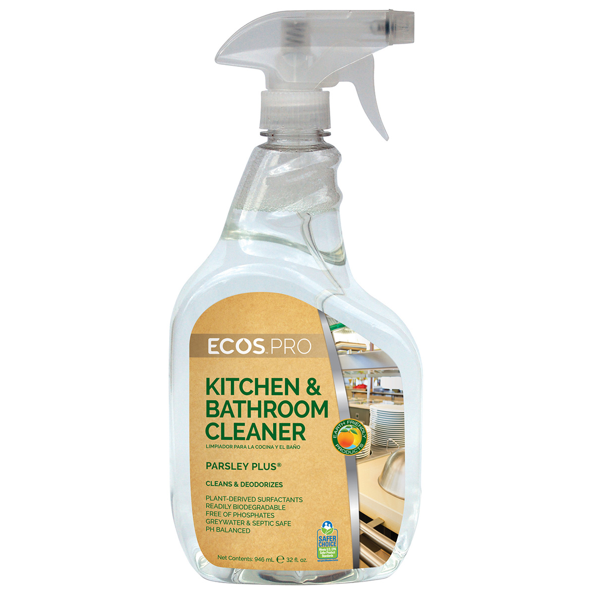 Bathroom Cleaner earth friendly products ecos™ pro parsley plus® kitchen & bathroom