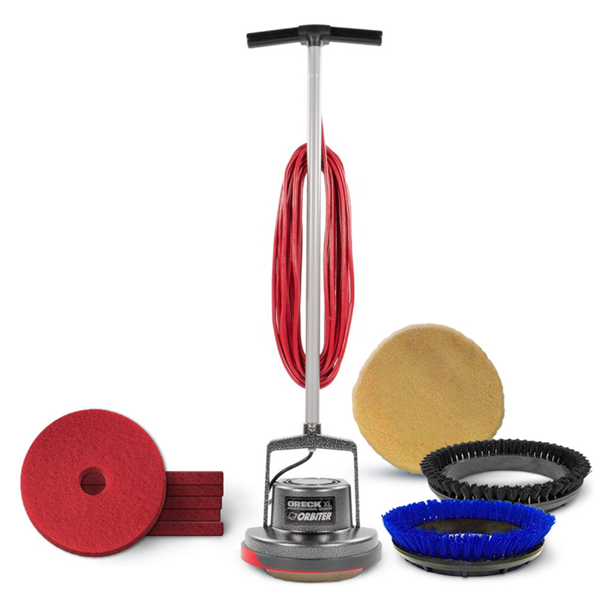 Oreck® Orbiter® Floor U0026 Carpet Cleaning Package (includes Brushes, Pads U0026  Bonnets)