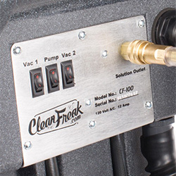 CleanFreak® 100 PSI carpet extractor control panel