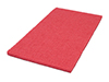 red rectangular spacer pad