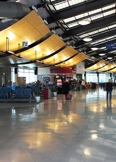 The floor shines at Outagamie County Regional Airport