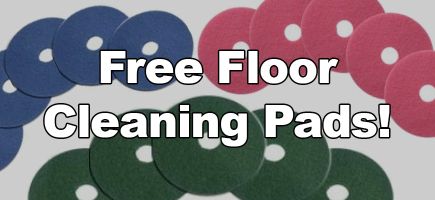 Get Free Floor Cleaning Pads! - The Janitor's Closet - A CleanFreak