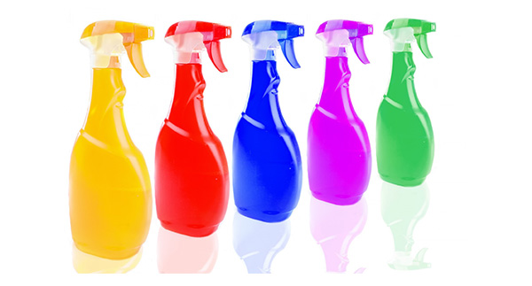 Colored Spray Bottles