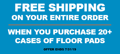 Free shipping with purchase of 20 floor pads