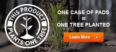 Order one case of floor pads, plant one tree
