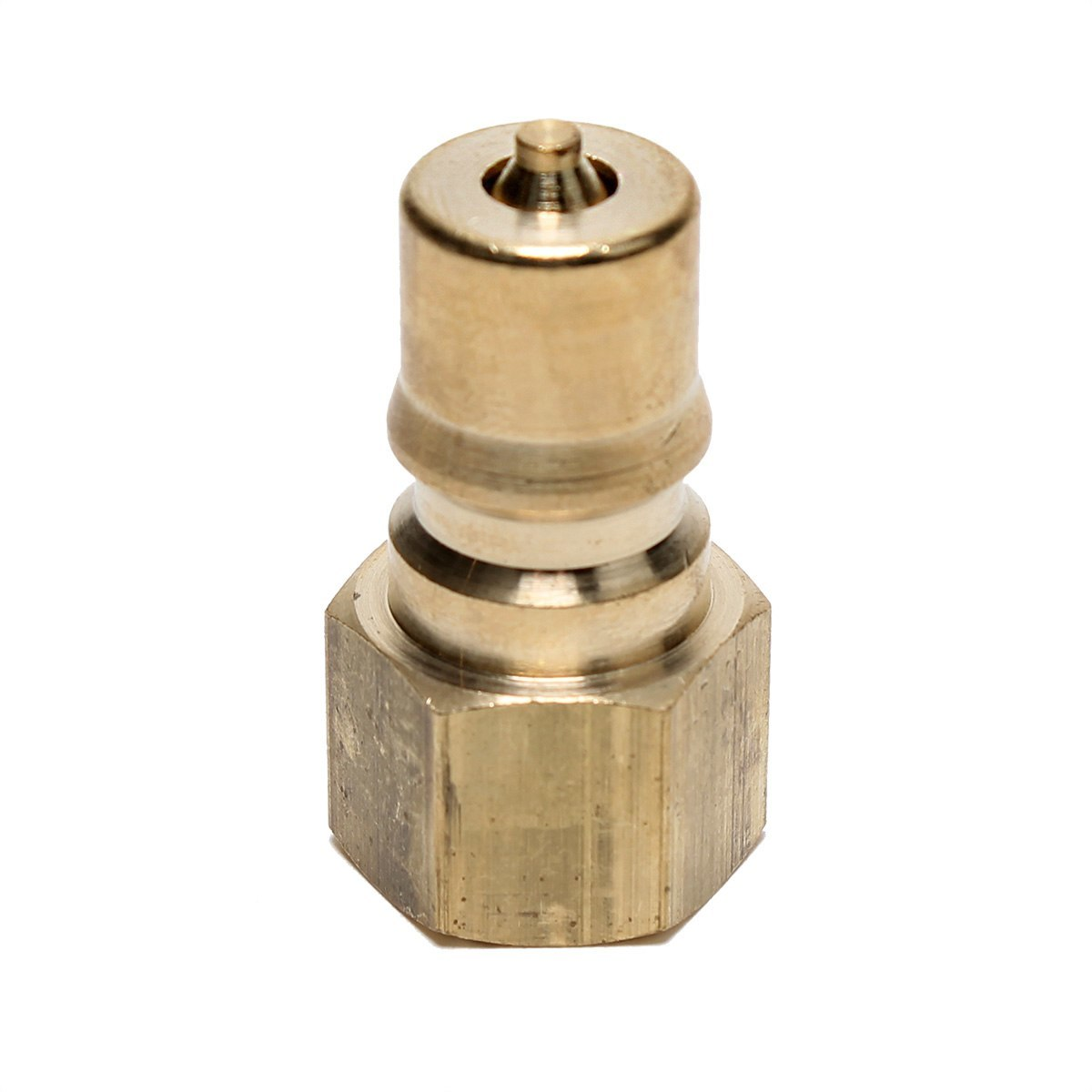 .10xPush In To Easy Connect Brass Swivel Air Male Elbow Fitting 1//4 OD x 1//8 NPT