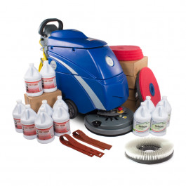 Trusted Clean 'Dura 18HD' Electric Auto Scrubber Bundle with Pads