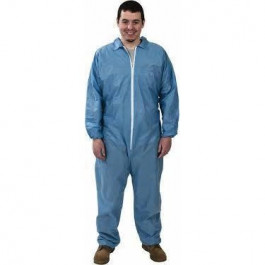 Safety Zone® Blue Polypropylene Disposable Coveralls (M - 5XL Sizes Available) - Case of 25