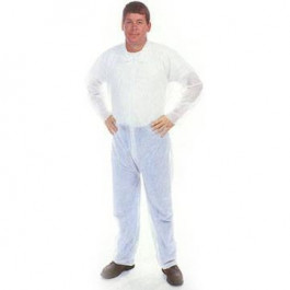 Polypropylene Disposable Coverall - White