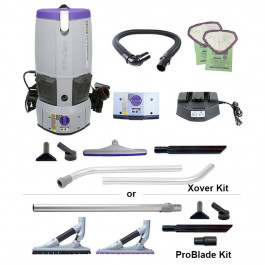ProTeam® GoFree® Flex Pro II Battery Powered 6 Qt. Backpack Vacuum w/ Choice of Battery & Tool Kit