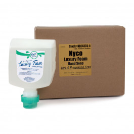 Nyco® Luxury Foam Dye & Fragrance Free Hand Soap (1000 ml Bottles) - Case of 4
