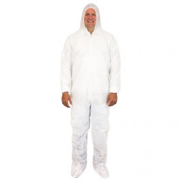 Polypropylene Bunny Safety Suit w/ Feet