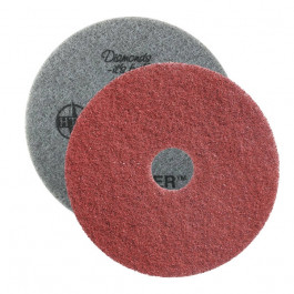 Red Twister™ Diamond Concrete Prep Pads - 400 Grit - Round (10