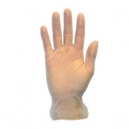Safety Zone® 4.0 Mil Clear Disposable Vinyl Powdered Gloves (S - XL Sizes Available) - Case of 1000