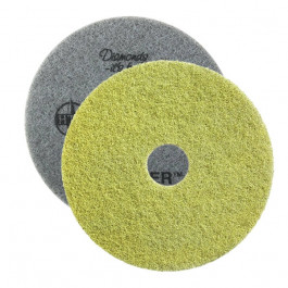 Yellow Twister™ Diamond Concrete Prep Pads - 1500 Grit - Round (10