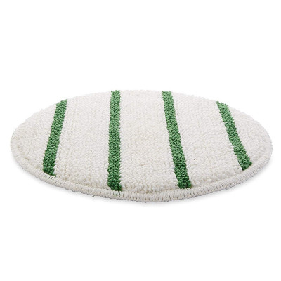 17 inch Carpet Scrubbing Bonnet with Green Agitation Stripes