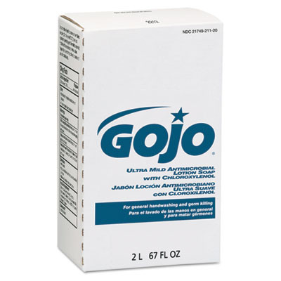 GOJO Antimicrobial Lotion Soap W/chloroxylenol Case