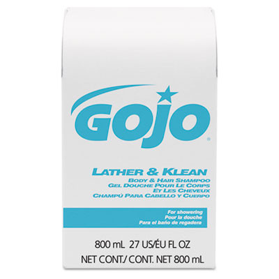 GOJO Lather & Klean Body & Hair Shampoo Refill Case