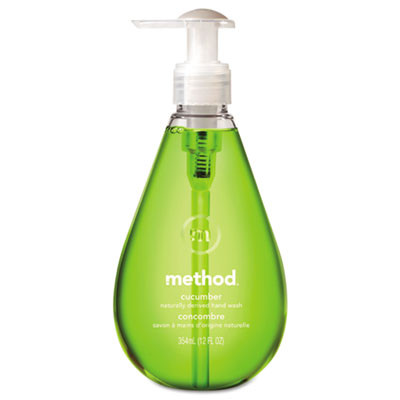 Hand Wash, Cucumber Scent, Bright Green, 12 Oz Bottle