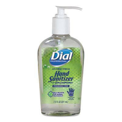 Case of Dial Professional Antibacterial Hand Sanitizer with Moisturizers, 7.5oz Pump Bottles