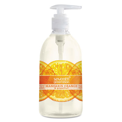 Natural Hand Wash, Mandarin Orange & Grapefruit, 12 Oz Pump Bottle